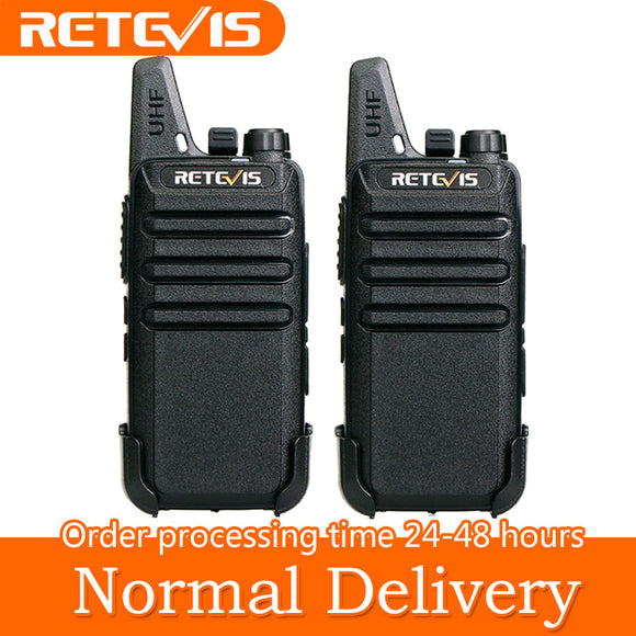 Mini Walkie Talkie 2 Piece Pair Two Way Radio Communicator