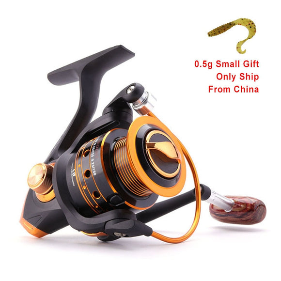 Spinning Fishing Reel 12BB + 1 Bearing Balls 500 9000 Series Metal Coil Spinning Reel Boat Rock Fishing Wheel
