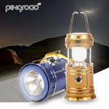 Oudoor Portable Rechargeable Solar Lantern Camping Tent LED Hand Lamp Collapsible Emergency Solar Powered Light For Hiking PD012 Hunt Gear Store