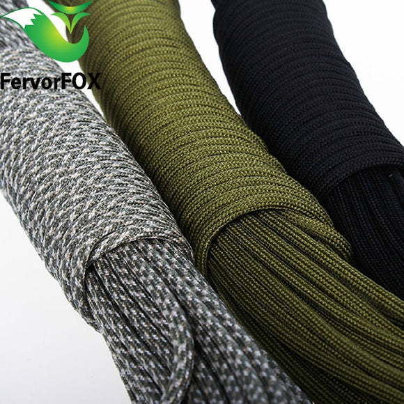5 Meters  Dia.4mm 7 stand Cores Paracord Lanyard Rope Hunt Gear Store