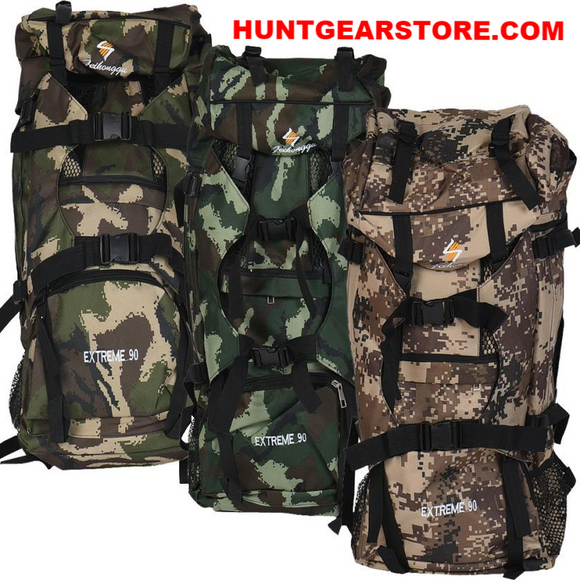 Backpack Hunt Gear Store 90L Large Camouflage Hunt Gear Store