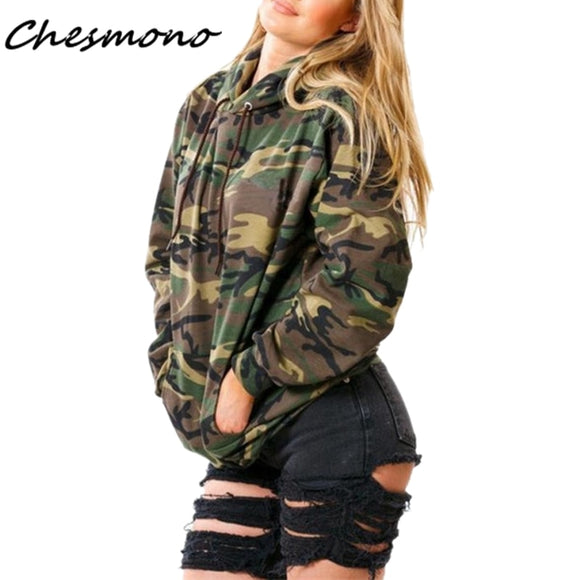 Women's Jacket Camouflage Long Sleeved Thick Hooded