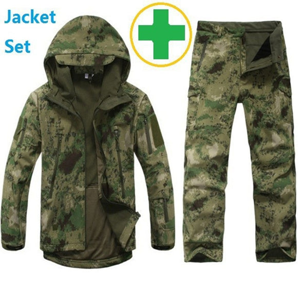 Jacket And Pants Hunting Waterproof Windproof Jacket Hoody Softshell
