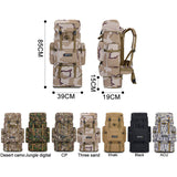 2019 70L 85L Tactical Backpack Mountaineering Hunt Gear Store