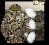 Winter Clothes Coat Soft Shell Waterproof Camouflage