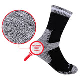 Men's 5 Pairs Cushion Cotton Crew Socks