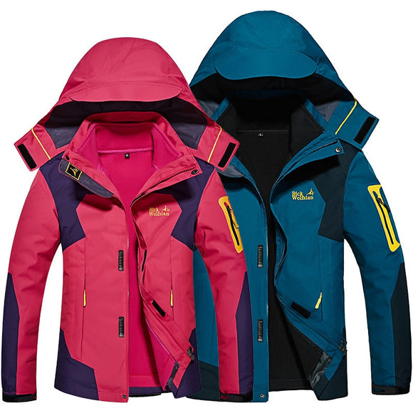 Women 3 In 1 Softshell Warm Sports Jackets 8 Colors