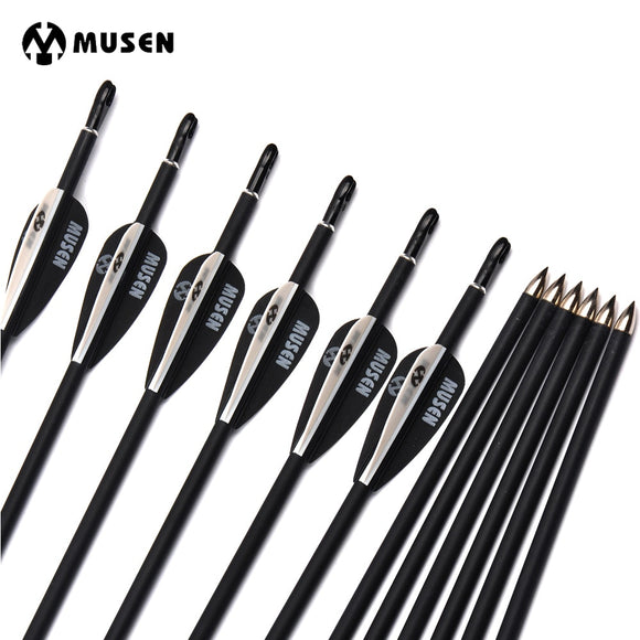 Carbon Arrows 6/12/24 pcs 80cm Spine1000 Bow Hunting Archery Hunt Gear Store