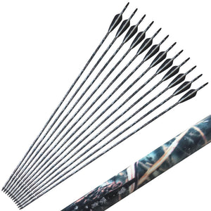 12pcs 7.6mm 31.5 inch Camouflage Carbon Archery Arrows Hunt Gear Store