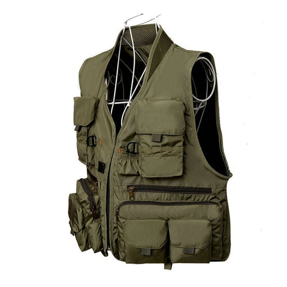 Quick Dry Fishing Vest Breathable Polyester 3 Color Hunt Gear Store