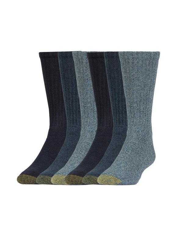 Gold Toe Men's Harrington Casual Crew Socks, 6 Pairs