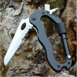 Carabiner Hook Knife Multi Tool Buckle Lock Hunt Gear Store