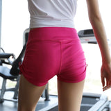 Female Yoga Shorts Wide Waist Training, Color - Red