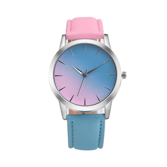 Rainbow Design Leather Band Alloy Quartz Wrist Watch Hunt Gear Store
