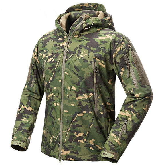 Women Fleece Jacket Liner Tactical V.5 Camouflage Hooded