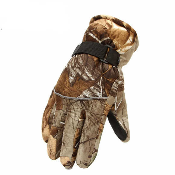 Outdoors Gear Waterproof Fleece Thermal Hunting Gloves