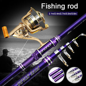 Alloy Telescopic Fishing  Short Rods Spinning Hunt Gear Store