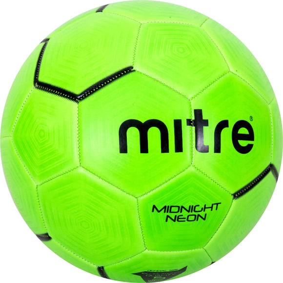 Mitre Midnight Neon Green Soccer Ball  Size 5