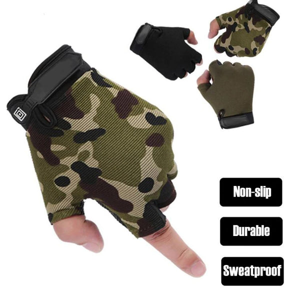 Half Finger Gloves Anti-Slip Outdoors Equipment Hunt Gear Store