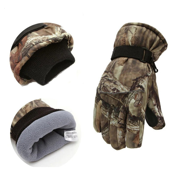 Camouflage Men's Warm Waterproof Gloves