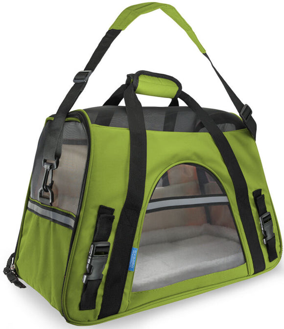 Pet Carrier Soft Sided Large Green Bag