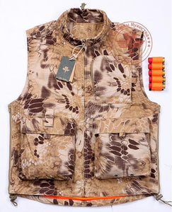 Hunting Vest Camouflage Python Pattern - Free + Shipping