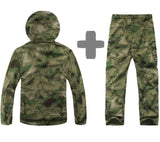 Soft Shell Camouflage Tactical Jacket Set Jacket Pants Hunt Gear Store