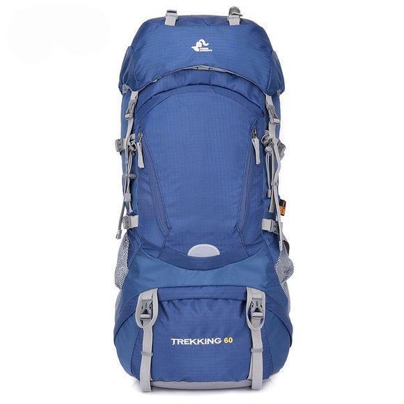 Trekking 60l Outdoor Hiking Backpacks Waterproof , Capacity - 50 - 70L, Color - Blue