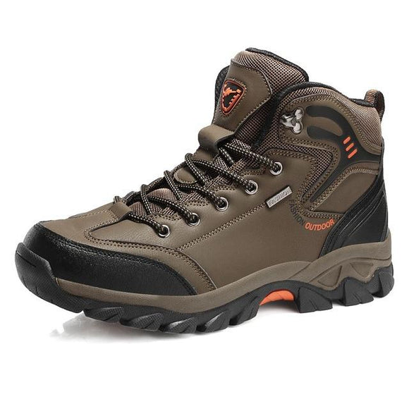 Waterproof Men Hiking Boots Hunting Boots, Color - Brown