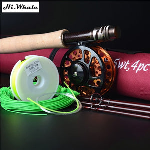 HiWhale New Carbon Fly Fishing Combo Set Hunt Gear Store