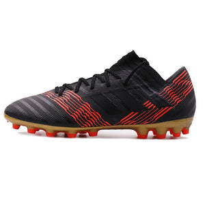 Adidas 17.3 AG Soccer Cleats Black With Red Stripes Hunt Gear Store