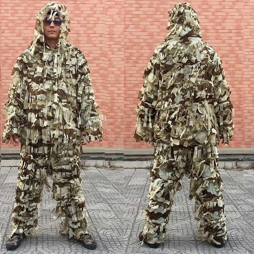 3D Leaf Army Camo Yowie Ghillie Suit, Color - CS-ST-D