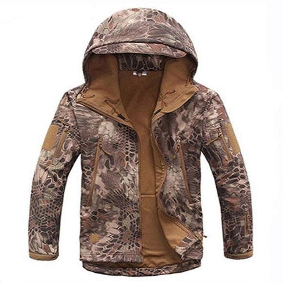 Tactical Sets Men's Camouflage Hunting Clothes Military Suit Jacket Or Pants, Color - Desert Python