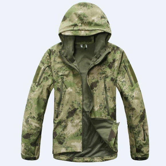 Tactical Sets Men's Camouflage Hunting Clothes Military Suit Jacket Or Pants, Color - Green Camouflage
