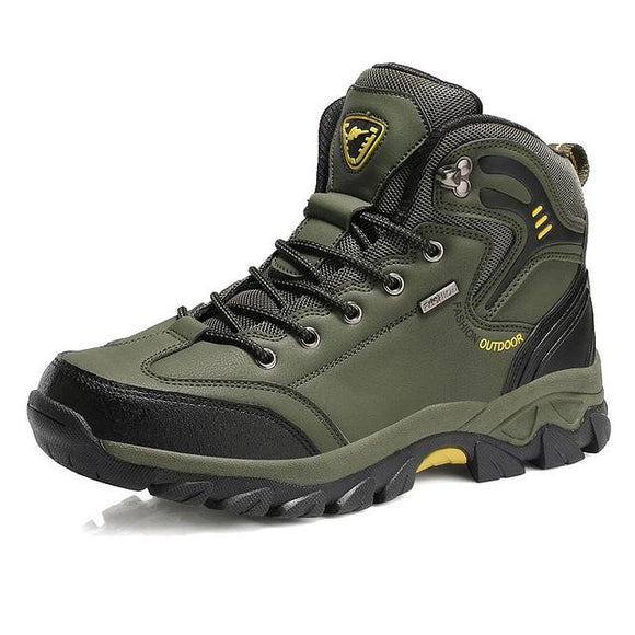 Waterproof Men Hiking Boots Hunting Boots, Color - Green