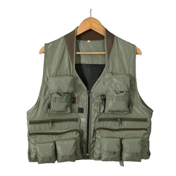 Quick Dry Fishing Vest Breathable Polyester 3 Color, Color - Green Hunt Gear Store