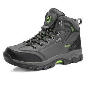 Waterproof Men Hiking Boots Hunting Boots, Color - Grey