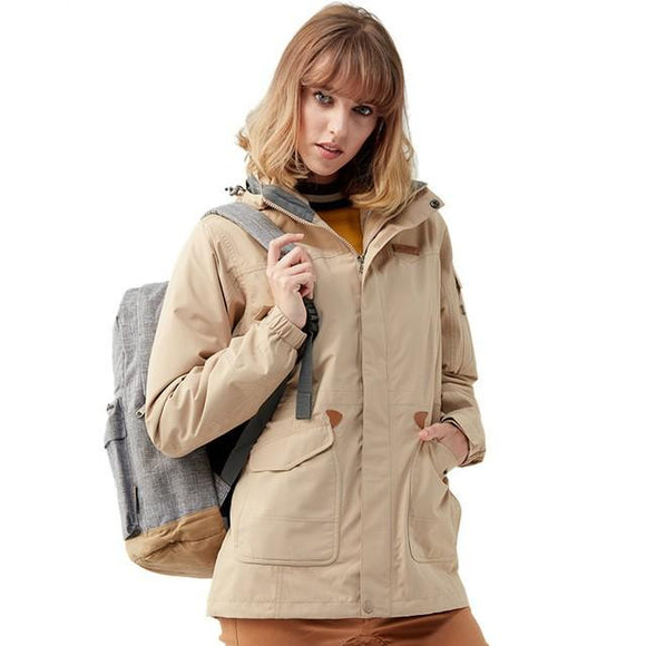 Waterproof Winter Jacket Women's Windbreaker, Color - Khaki