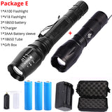 10000 Lumens LED Flashlight T6/L2 Ultra Bright Hunt Gear Store