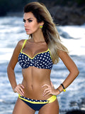 Print Striped Sexy Swimsuit Push Up Bikinis Plus Sizes