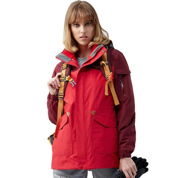 Waterproof Winter Jacket Women's Windbreaker, Color - Red