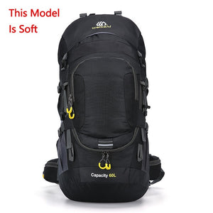 Trekking  Outdoor Hiking Backpacks Waterproof  50  70L, Color Black