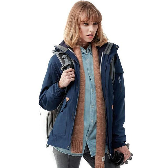 Waterproof Winter Jacket Women's Windbreaker, Color - Sky Blue