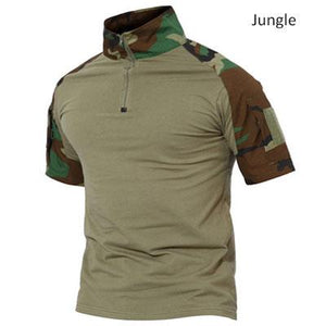 Men's 7 Versions T-shirt Hunting Short Sleeve , Color - Woodland