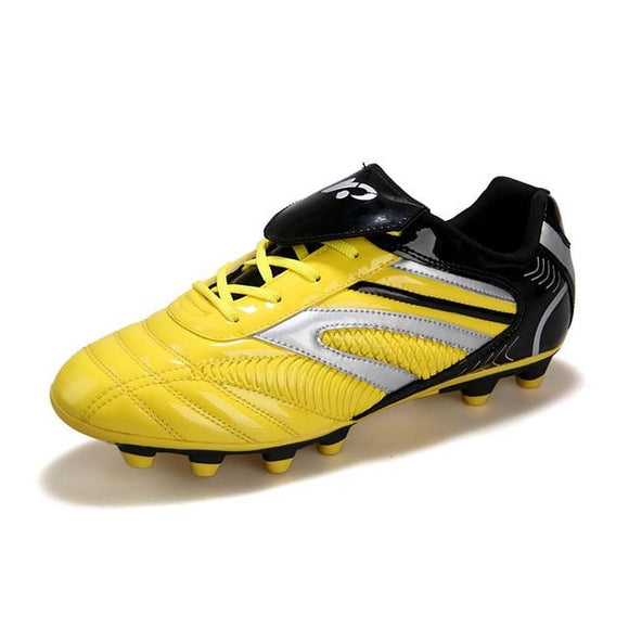 Soccer Cleats Leather High Top, Color - Yellow