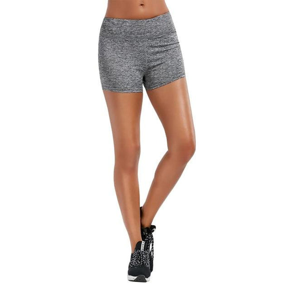 Shorts Women Elastic Waist Running Shorts, Color - grey