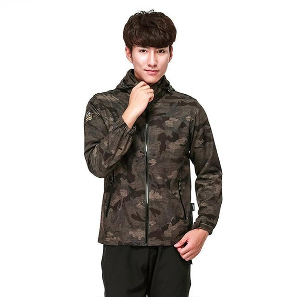 Camouflage Stretch Coat Waterproof Jacket Multiple Colors , Color - men brown Hunt Gear Store
