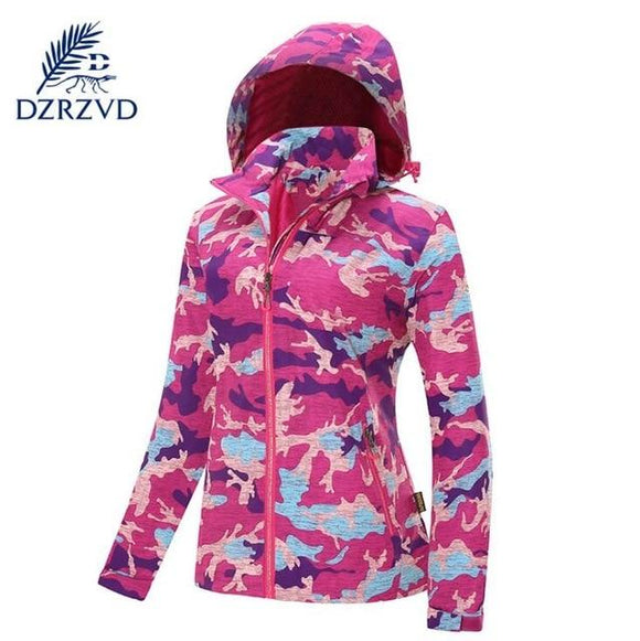 Camouflage Stretch Coat Waterproof Jacket Multiple Colors , Color - women rose Hunt Gear Store