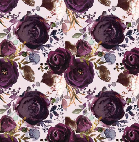 Plum Watercolour Floral