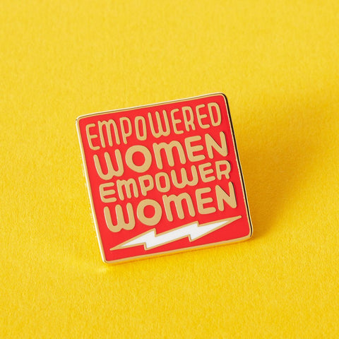 Empowered Women Enamel Pin